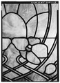 DETAIL OF STAINED GLASS PANEL - Christian Hess House, 811 Main Street, Wheeling, Ohio County, WV HABS WVA,35-WHEEL,34-15.tif