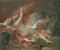 Danaë and the Shower of Gold. Study (François Boucher) - Nationalmuseum - 22811.tif