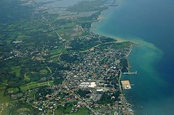 An aerial view of Danao City