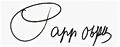 Daniel Papp, autograph.png