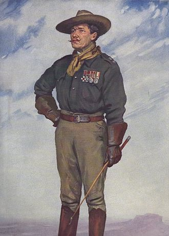 Legion of Frontiersmen - Colonel Daniel Patrick Driscoll DSO,  Vanity Fair caricature 15 February 1911. Driscoll later raised the 25th Battalion, Royal Fusiliers from Frontiersmen