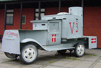 Danish resistance movement - Railway shop workers in Frederiksværk built this armored car for offensive use by the Danish resistance. It was employed against Danish Nazis, known as the Lorenzen group, entrenched in the plantation of Asserbo in North Zealand, May 5, 1945.