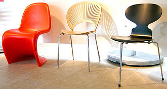 Scandinavian design - Chairs at the Danish Design Center, Denmark
