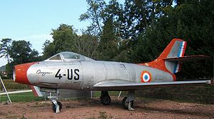 Dassault Ouragan - A Dassault Ouragan with French Air Force markings