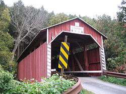 Davis Covered Bridge over the North Branch of Roaring Creek in the township