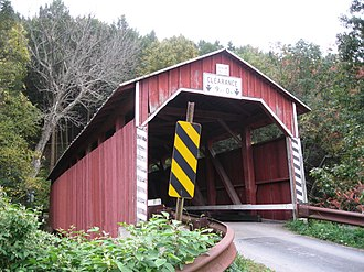 Cleveland Township, Columbia County, Pennsylvania - Davis Covered Bridge over the North Branch of Roaring Creek in the township