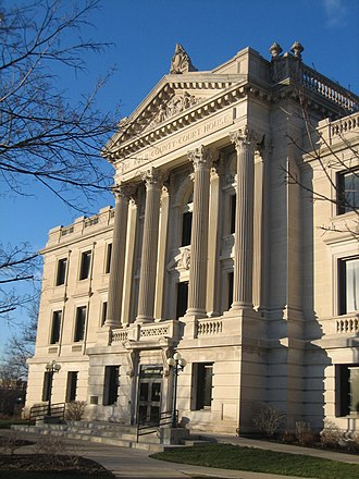 DeKalb County Courthouse (Illinois) - The third and current courthouse is possibly the jewel of the Sycamore Historic District.