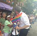 De Blasio at Queens Pride Parade (8927847832).jpg