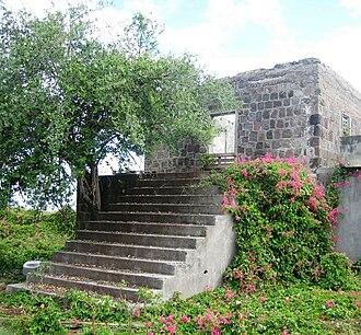 Johannes de Graaff - Ruins of De Graaff's estate 'Graavindal' on St. Eustatius