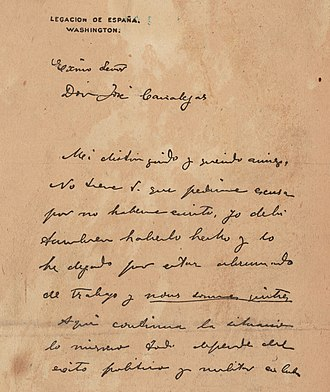 Forgery as covert operation - The first page of the De Lôme Letter.