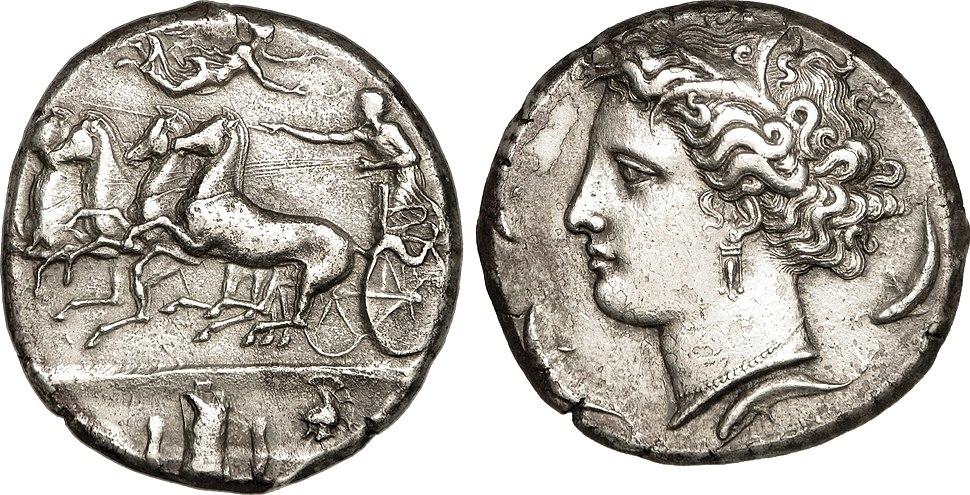 Decadrachme de Sicile sous Denys l'Ancien