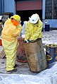 December 2, 2012 - Carefully working with drums of unknown liquids at the Staten Island Collection Area, Fresh Kills Landfill (8251135566).jpg
