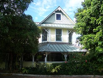 Delray Beach, Florida - John and Elizabeth Shaw Sundy House, built in 1902, is listed in the U.S. Register of Historic Places.