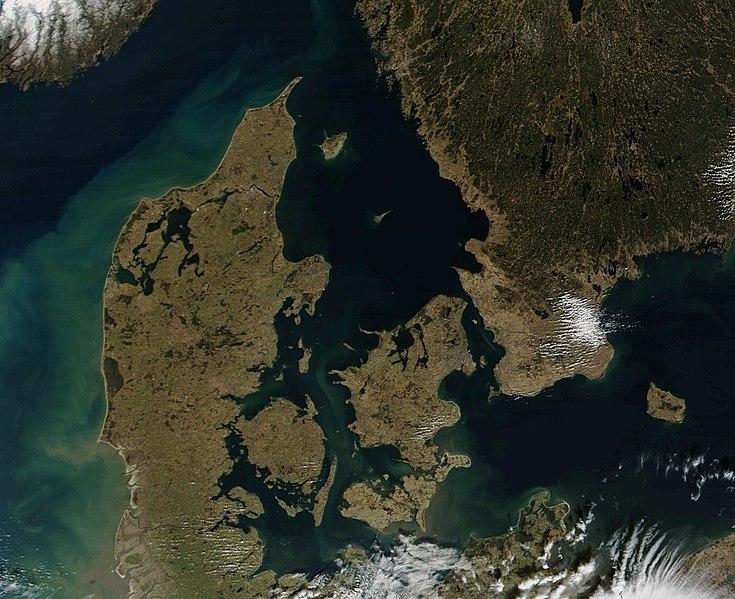Satellitenaufnahme Dänemark
