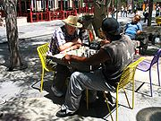 Chess players on the 16th Street Mall