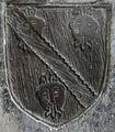 Denys arms on the Denys funerary brass, Saint Mary the Virgin, Olveston, Gloucestershire, England - 20090920.jpg