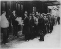 Depression, Breadlines-long line of people waiting to be fed, New York City, in the absence of substantial government... - NARA - 196506.tif