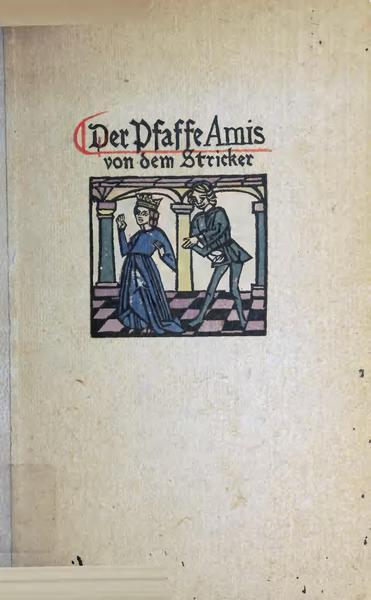 File:Der Pfaffe Amis von dem Stricker.pdf