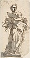 Design for a Statue of Prudence with Sketches at Upper Left Corner. MET DP807976.jpg