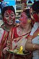 Devotees - Durga Idol Immersion Ceremony - Baja Kadamtala Ghat - Kolkata 2012-10-24 1368.JPG