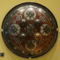 Dhal (shield), India, Lucknow, Awadh, Mughal period, early 19th century, steel, bronze - Royal Ontario Museum - DSC04547.JPG