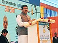 Dharmendra Pradhan addressing at the launch of the customer awareness campaigns on cashless transactions, at Irwin Service Station, Indian Oil Corporation Retail Outlet, Baba Kharag Singh Marg, in New Delhi.jpg