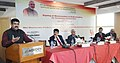 Dharmendra Pradhan addressing at the signing ceremony of an MoU for Technology Collaboration between Oil India Ltd. and University of Houston, in New Delhi.jpg