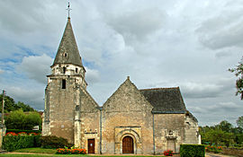 The church of Saint Médard, in Dierre