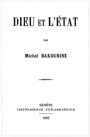 God and the State - The cover of the first print in 1882.