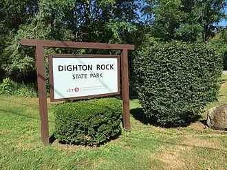 Dighton Rock - Park sign