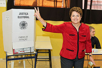 Dilma Rousseff - Dilma Rousseff after voting in Porto Alegre, in 2010.