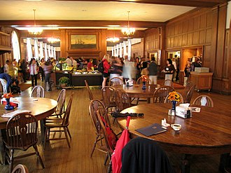 Choate Rosemary Hall - The dining hall in Hill House west wing