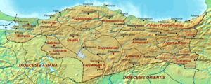 Map of the Diocese of Pontus (Dioecesis Pontic...