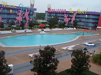 Disney's Pop Century Resort - Image: Disney Resort 50s pool