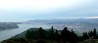 Otago Harbour - The Otago Harbour basin and central Dunedin, as seen from Signal Hill