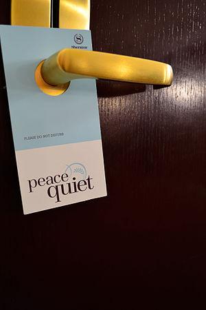 Door hanger - Common Do not disturb sign of a hotel
