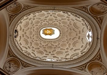 English: Elliptic dome of San Carlo alle Quatt...