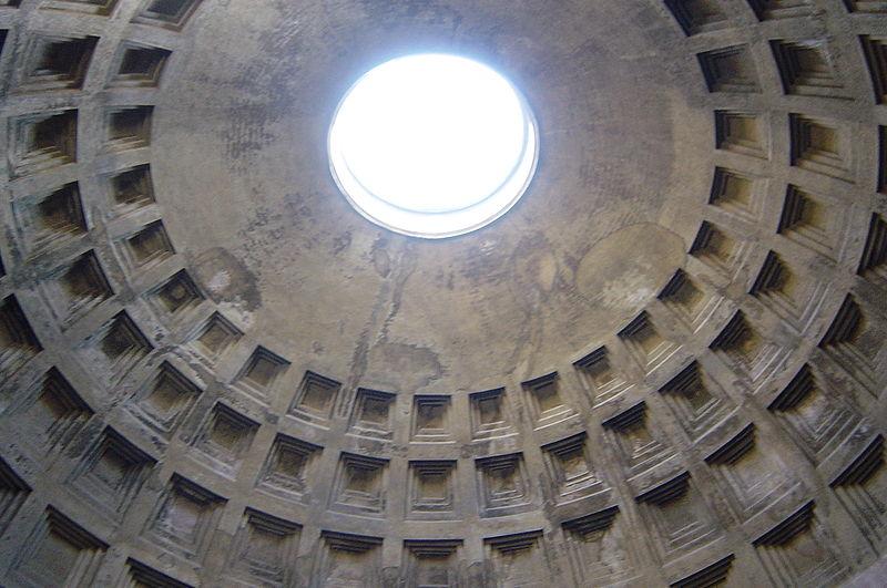 Panteón de Agripa, Cúpula vista desde el interior.