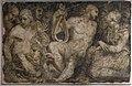 Domenico brusasorzi, affreschi dalla facciata di palazzo fiorio della seta, 155 circa, apollo e le muse.jpg