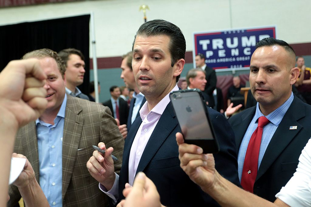 Donald Trump, Jr. with supporters (29977616194)