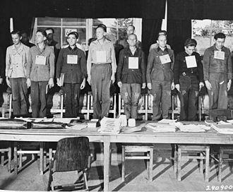 Mittelwerk - 16 of the 19 Dora Defendants in 1947