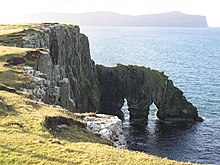 Double Sea Arch at Ardmore Point - geograph.org.uk - 88263.jpg