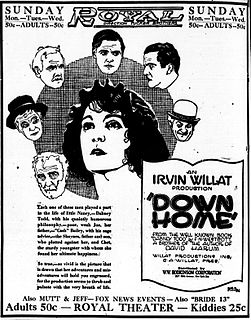 <i>Down Home</i> (film) 1920 film by Irvin Willat