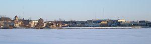 Little Falls, Minnesota - Image: Downtownacrossriver 008