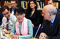 Dr Robin Niblett, Daw Aung San Suu Kyi and Dr Vincent Cable MP (7420278560).jpg