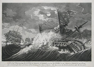 Action of 13 January 1797 - View of the wreck of the French ship Le Droits de l'Homme,  John Fairburn