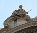 Duana de València, al·legoria de la Justícia.JPG