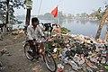 Dumped Garbage At Southern Edge - Santragachi Jheel - Howrah 2017-12-25 5640.JPG