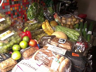 Freeganism - Food collected from a dumpster in Linköping, Sweden