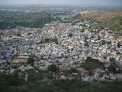 Aerial view of Dungarpur